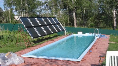 Солнечный водонагреватель для бассеина