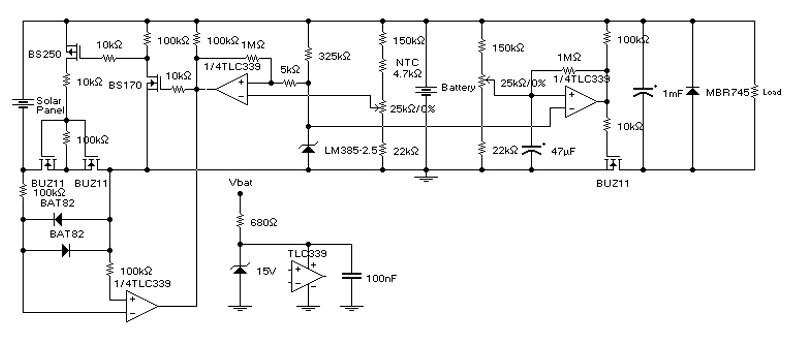 Схема солнечного контроллера