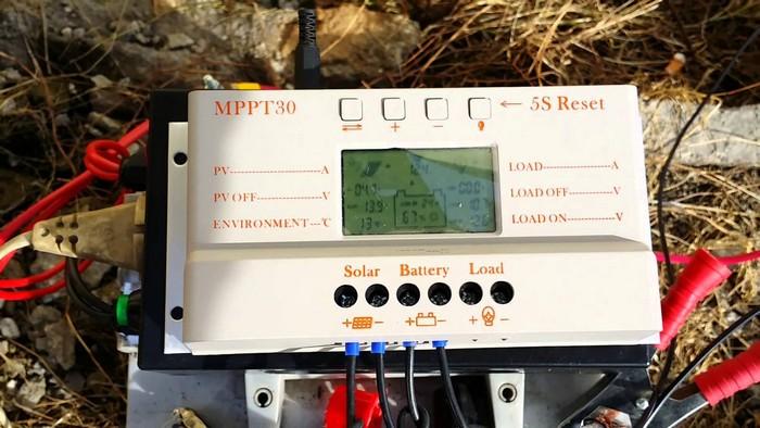 Работа солнечного контроллера