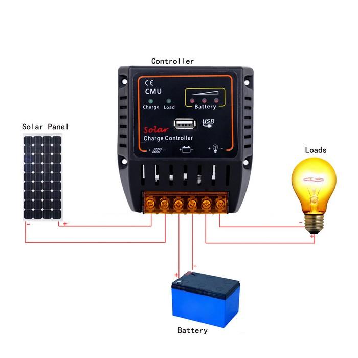 Принцип действия солнечного контроллера