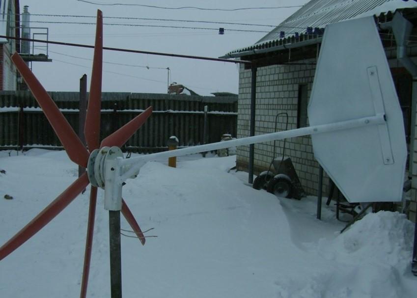 Готовая конструкция ветрогенератора
