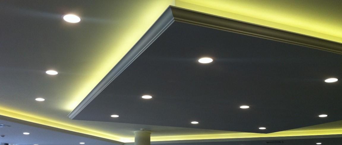 Выполнение подсветки потолка, выполненного на разных уровнях