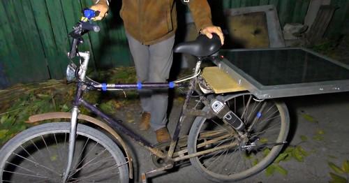 Электровелосипед с солнечной батареей