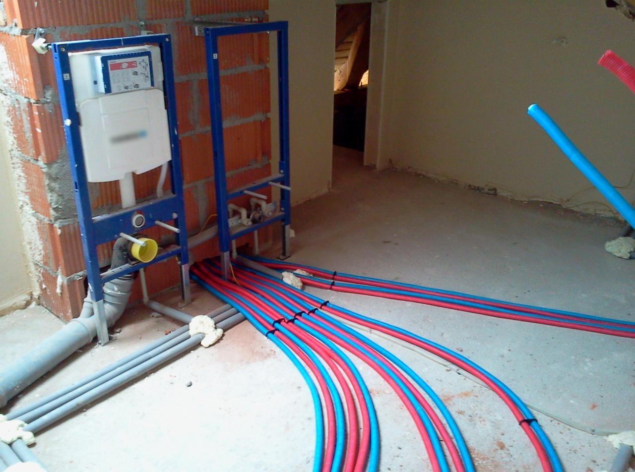 установка водопровода и канализации
